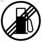 No gas pump sign