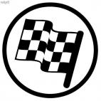 Racing flag sign
