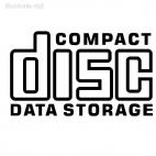 Compact disc data storage