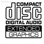 Compact disc digital audio extended graphics