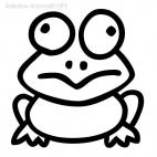 Frog simple drawing