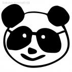 Panda head drawing
