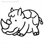 Rhinoceros scribbled 2